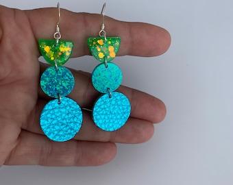 Handmade Multi Media Earrings