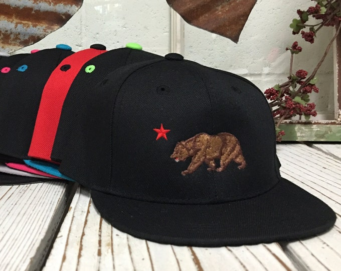 3996aefadc2f1a Baseball Caps For Kids | CA BEAR , Embroidered , Flat Bill , Kids SNAPBACK ,