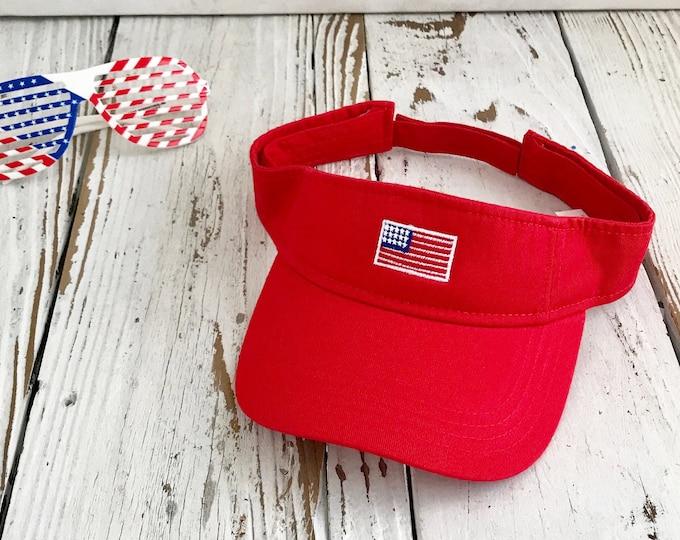 4th Of July Visor USA Flag Visor Sun Visors, Flag Visor Hat, Red white and Blue, Memorial Day Visor Hat Sun Hat, Labor Day Beach Hat