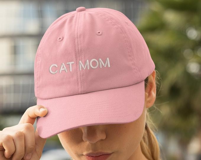 Cat Mom Baseball hat, Gift for Cat lover, embroidered baseball hat, Funny Cat mom hat, Cat Parents gifts for cat mom, Cat Hat, Pet owner hat