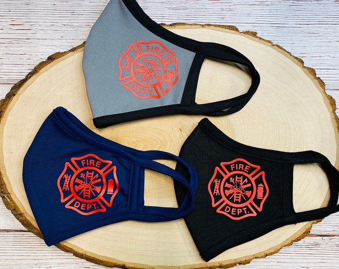 Fireman Face Mask Reusable Face mask, Firefighter Face mask cover, Fire Department Face Mask for fireman Facemask, First Responder Face Mask