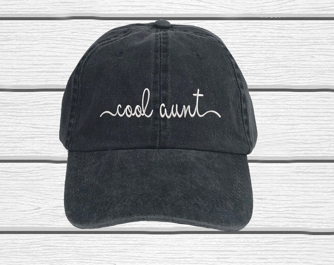 Cool Aunt Washed Dad Hat, Embroidered Autie Hat, Aunt Life Washed Dad Hat, Aunt Baseball Cap Hat, Gift for aunt, Aunt Hat, Tia Hats