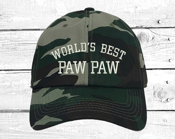 World's BEST PAW PAW Baseball hat for best buds Grandfather Gift for Grandpa Hats Gift for Dad Best friend Cap Papa Hat Abuelo Cap
