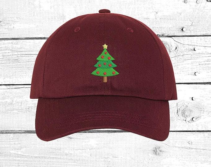 Christmas Tree Hats Christmas Outfit Caps Holidays Baseball Hat, Christmas Gift , Santa Hats, Gift Mom Hats, BlackHat