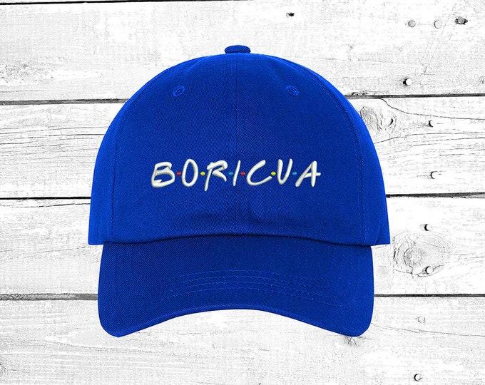 Boricua Dad Hat , Puerto Rico Baseball Hat ,t Low Profile Embroidered Baseball Cap, Puerto Rico Dad Hats, Boricua Hats