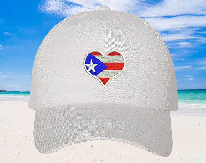 Puerto Rico Baseball Hat Puertorican Festival Hats, Puerto Rico Flag Dad Hat, Embroidered Baseball Cap, Puerto Rico Dad Hats, Boricua Hats