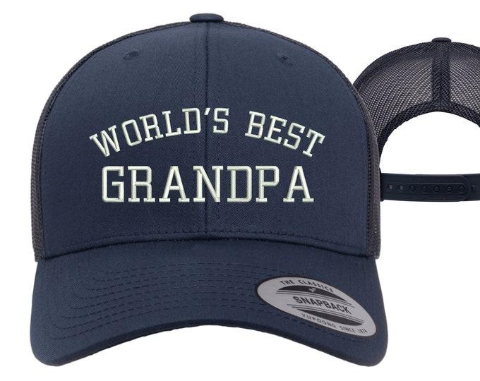 Worlds Best Grandpa Trucker Hats, Best Grandpa Baseball Caps, Grandpa Trucker Hats, Gift for Grandpa baseball hats, Best Grandpa Hats