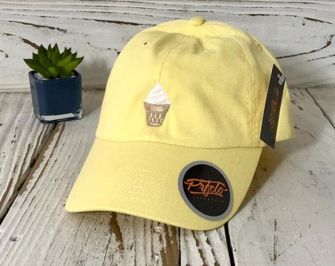 Ice Cream Dad Hat   Baseball Cap Hat, Vanilla Ice Cream Vintage Hat, 90's Dad Tumblr Cap,  Dad Hats , Ice Cream Lover Gift for her