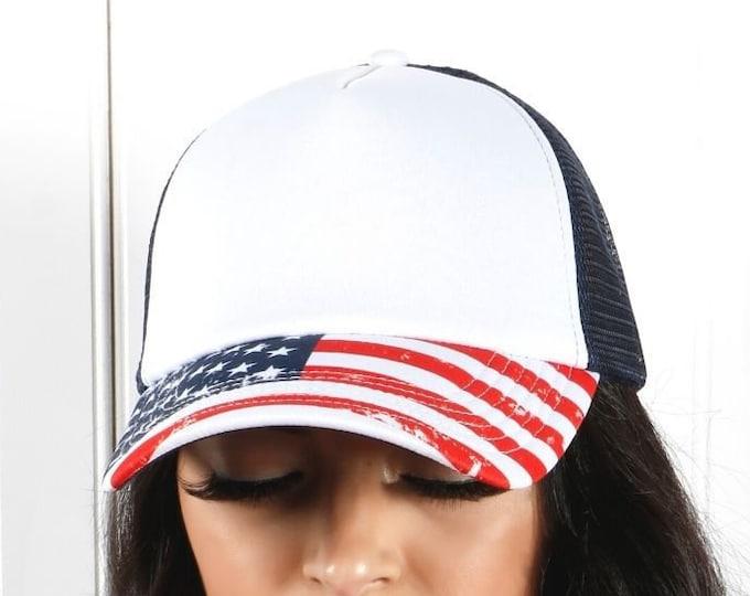 USA Bill Foam Trucker Hat, USA Snapback Trucker Hat, Fourth of July Hats, Unisex Trucker Caps, Foam Trucker Cap, Custom Trucker Hat