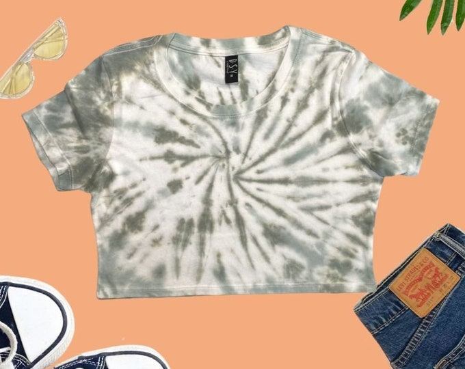 Tie Dye Cropped T-shirt, Tie Dye Shirt Crop Top, Handmade Tie Dye Crop Top, Hippie gifts for her, Pastel Colors Sexy Crop Top, Women's Tops