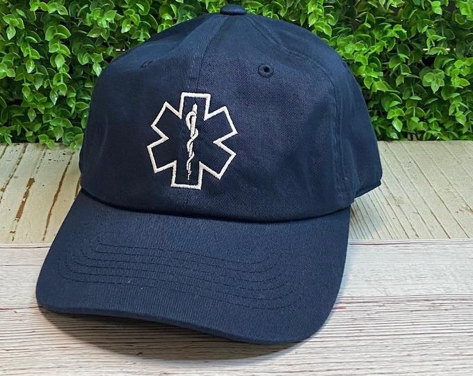 Paramedic Baseball Hat, Ambulance Caps First Responders Baseball Caps, Gifts  EMT EMS Baseball hats, Star of life hat Student Paramedic Hats