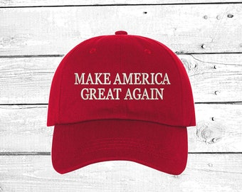 4e73cd2b Make America Great Again Baseball Hat Embroidered Dad Cap Donald Trump  Baseball Hat, Trump hat, Dad Caps , Unisex Hat