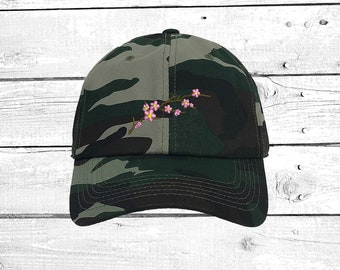 f45c524ec48566 Hats CHERRY BLOSSOM Dads Hat Embroidered Baseball Cap Low Profile Caps  Flower winter hats, Cherry Blossom Lover Gift for mom, Baseball Hats