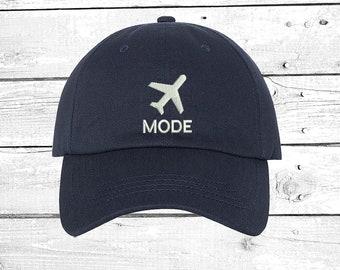 89f898acf66 Airplane Mode Baseball Hat Travel Hats Gift for travelers Unisex Caps Plane  Adventurer Gift Girls Trip Sun Hats Vacation Cap Graduation Gift