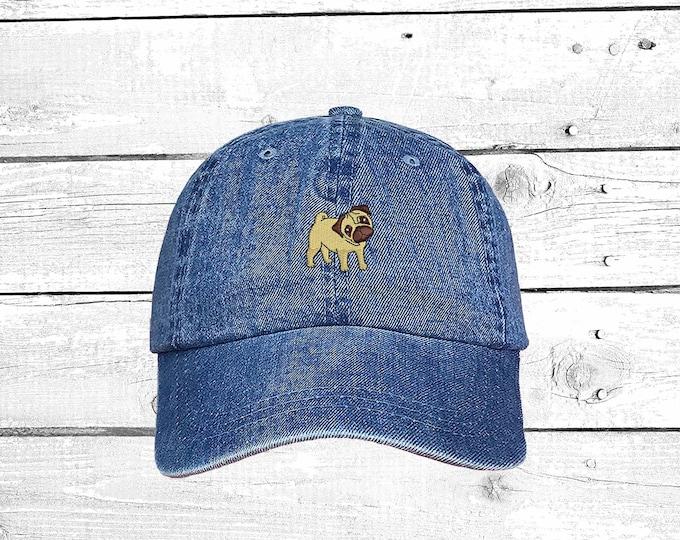 4201bc03301 PUG Dad Hat Dog Lover Hat Embroidered Baseball Cap Pug Hat Pug Dog Hat Pug  Lover