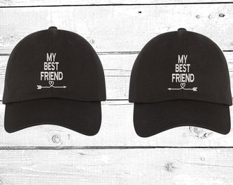 6c670c015a90 My Best Friend Dad Hats Baseball Cap Gifts for Best Friends Couples Hat His  and Hers Baseball Hat Valentines Caps Matching hats Gift for her