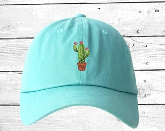 db0f38c9f0 CACTUS FLOWER Dad Hat Succulents Baseball Caps Plant Caps Cactus Pot Gift  Prickly Cactus Hat Cacti Tumblr Dad Hat