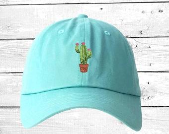 71a19223dcee1a CACTUS FLOWER Dad Hat Succulents Baseball Caps Plant Caps Cactus Pot Gift  Prickly Cactus Hat Cacti Tumblr Dad Hat, Unisex Hats
