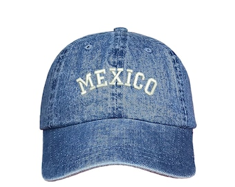 32090f68782 MEXICO Dad Hat Embroidered Mexico Flag Baseball Cap Low Profile Curved Bill  Hat