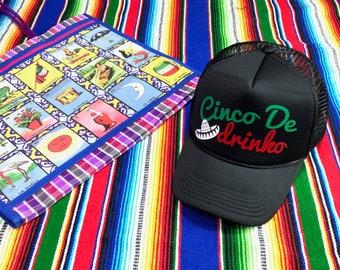 ff87a585 Cinco De Mayo Trucker Hat, Cinco De Drinko, 5 De Mayo Trucker Cap, Fiesta  Party Hat, Cervezas Mexican Cap, Mexican Fiesta Hat, Beer Hat