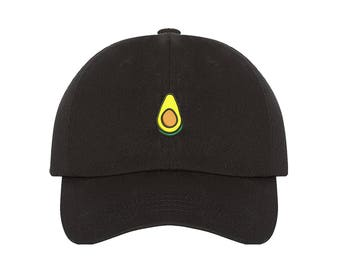 Avocado Dad Hat Baseball Cap Embroidered Green Avocado Dad Hat Vegan Hat  Food Lover Low Profile Dad Hats Avocado Gift Tumblr Black Dad Cap 3bd21782504e