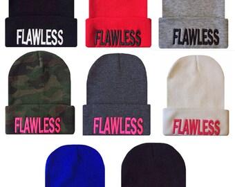 3f1d4b7db25 FLAWLESS 3D Cuffed Beanie Hat Hip Hop Beanies Cap - Many Colors Available