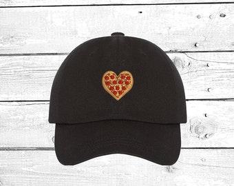 Mens and Womens I Love Italy Pizza Flat Baseball Cap Fashion Snapback Baseball Cap for Unisex