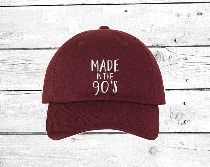 ca245e61838 Made in the 90 s Baseball Hat Made in the 90 s Baseball Cap Funny Hat  Birthday Unisex