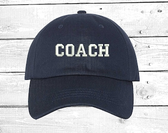 COACH Hats Soccer Coach Caps Baseball Coach  ade4f71d72f