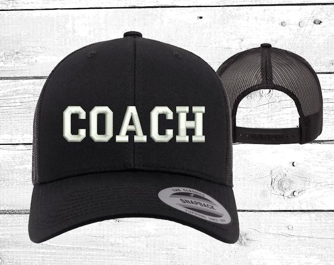 Coach Trucker Hats, Sports Baseball Caps, Coach Trucker Hats for coaches, Gifts for a coach baseball hats,