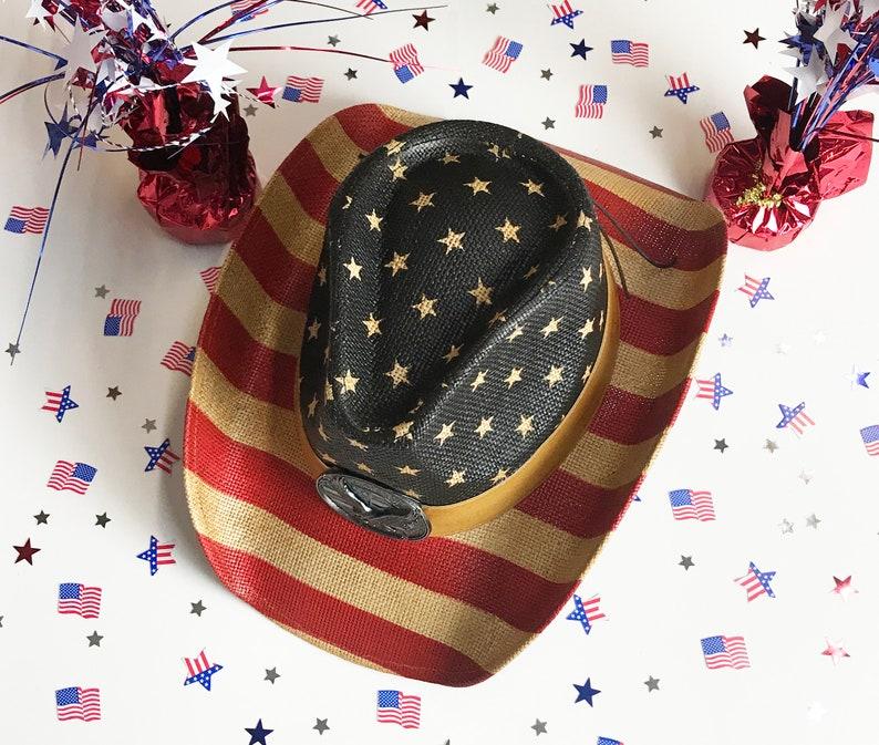 bdb2b82444be5 Labor Day Patriotic Cowboy Hat Western Hat 4th of July Hat