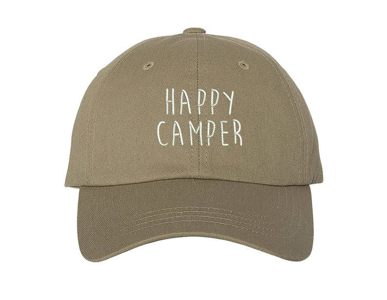 931aed0292dfa KIDS Hat Happy Camper Embroidered Baseball kids Hat Child