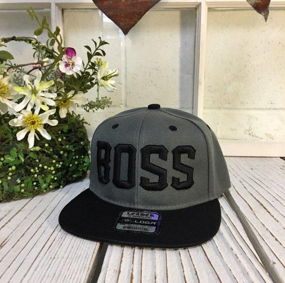 5d19581941c Flat Bill Snapback Cap Hat BOSS 3D Hip Hop