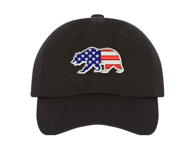 Kids Baseball Cap | US FLAG BEAR , Independence Day , Fourth of July , Red White and Blue , American , Hats and Caps , Accessories , usa