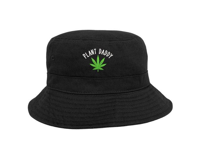 Weed Plant Daddy Bucket Hat, Unisex Embroidered Hat, Plant Daddy Bucket Hat, Weed Hat, Beach Bucket Hats, Stoner Cap, Summer Bucket Hat