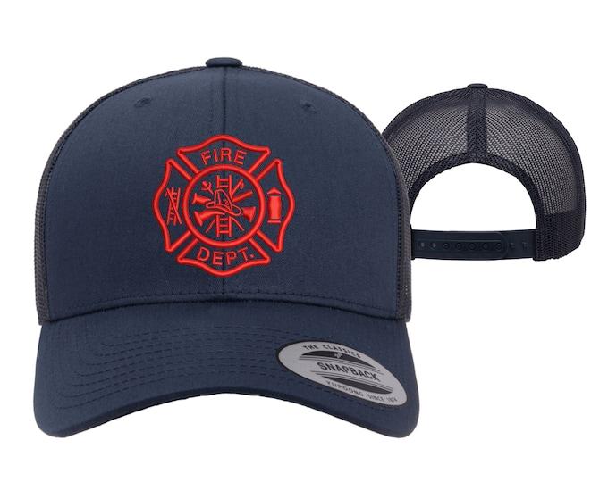 Fire Department Trucker Hats, Fireman Baseball Caps, Firefighter Trucker Hats for firemen, Gifts for a firefighter baseball hats
