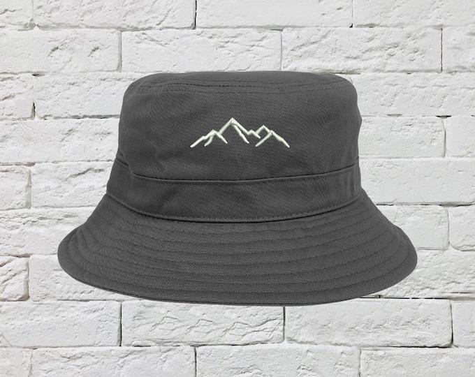 Mountains Bucket Hat, Sun Hats, Fisherman Bucket Hats, Embroidered Hats, Unisex Introvert Bucket Hats, Summer Bucket Caps Hat, Camper Hats