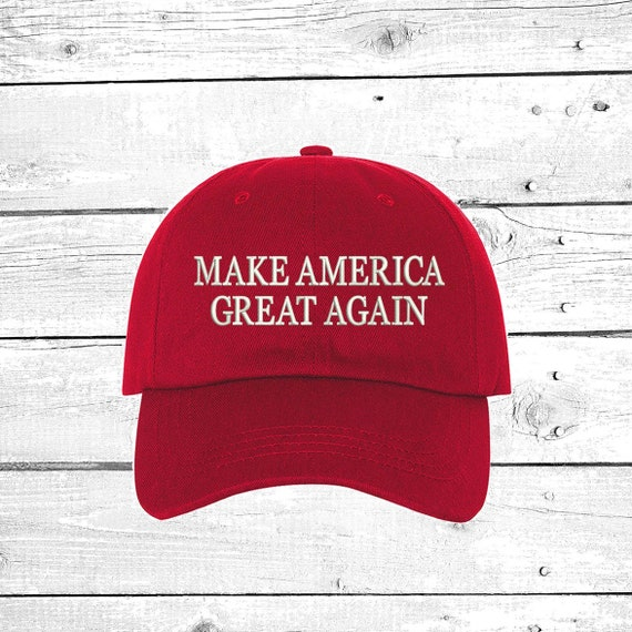 80cf4ea62175 Make America Great Again Baseball Hat Embroidered Dad Cap | Etsy