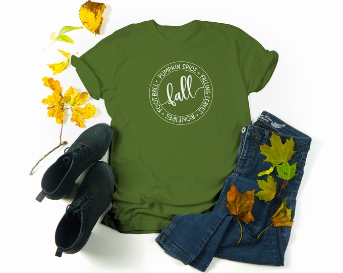 It's Fall T-shirt, Pumpkin Fall Shirt Women Crewneck Tee,  Fall Season Tee, Matching Couples Tshirt, Unisex Football Shirts, Autumn Tshirts