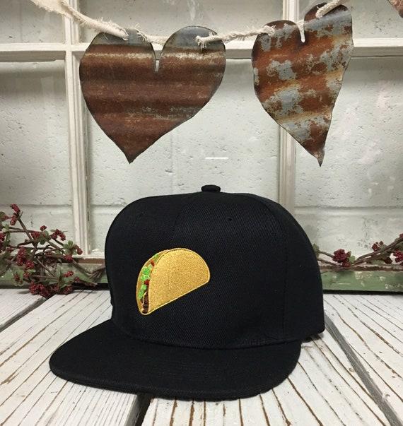 TACO Snapback Taco Flat Bill Snapback Hat Cap Taco Lover Hat  9980d9a7a09