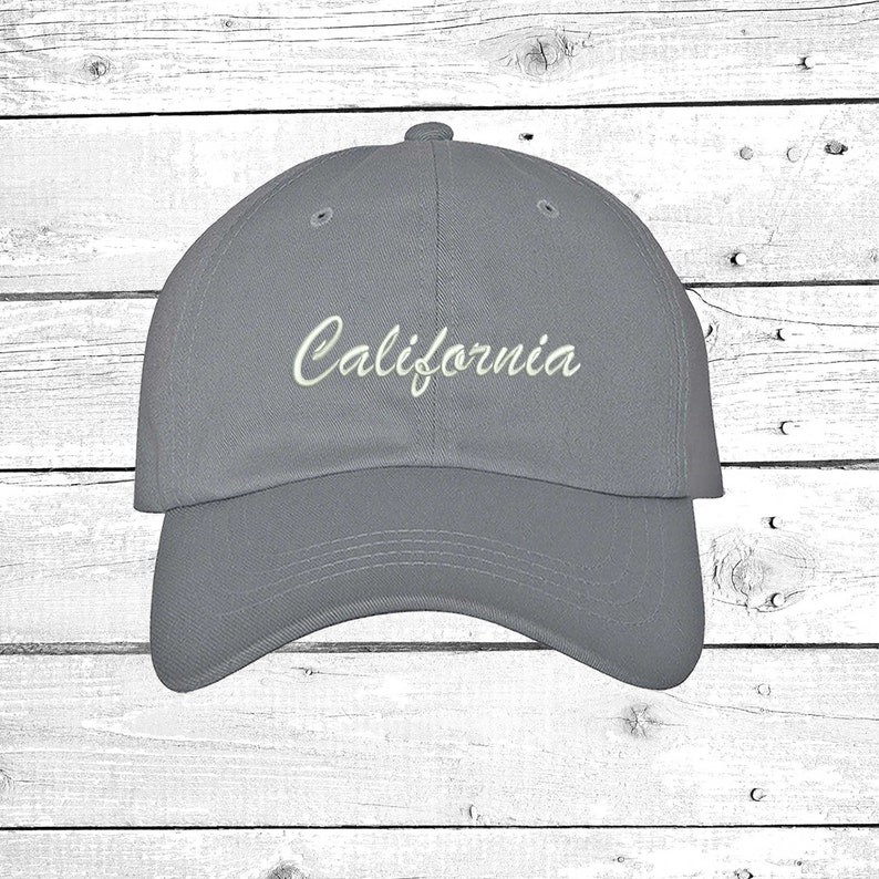 7ea906e6a1bfb CALIFORNIA Baseball Hat Low Profile Hats Embroidered West