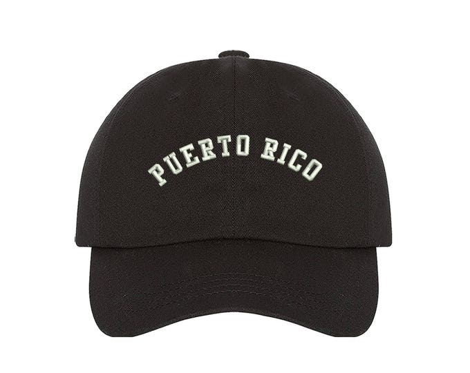 PUERTO RICO Dad Hat, Embroidered Puerto Rico Hat, Low Profile Boricua Cap Food Lover Hats, PR flag, Many Colors Available
