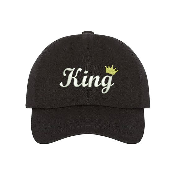 KING Dad Hat King Queen Hats King and Queen Gift King Dad Hats  951169c0d9ee