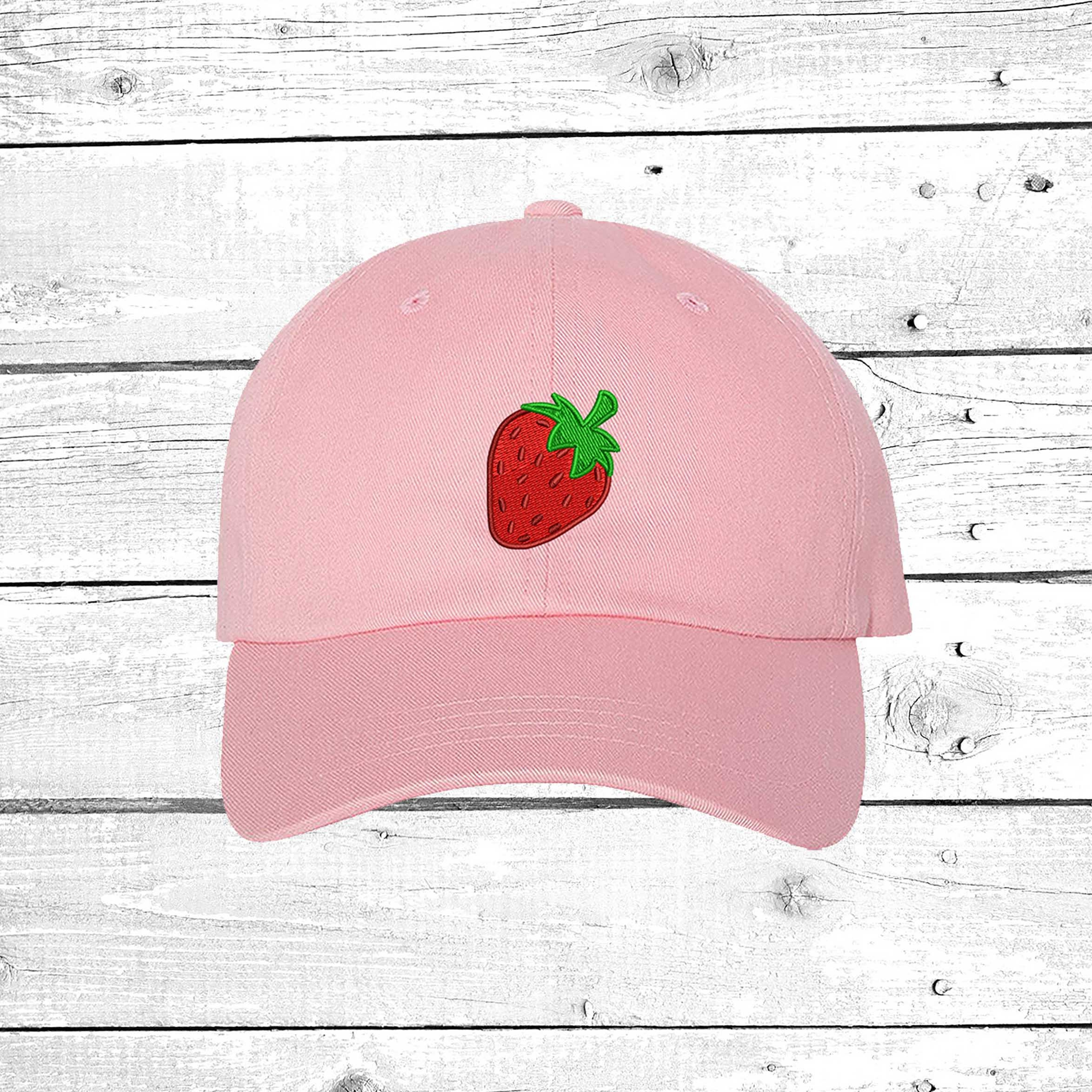 Baseball Hat Strawberry Dad Hat Embroidered Baseball Cap Tumblr ... 2b8a1a06dcba