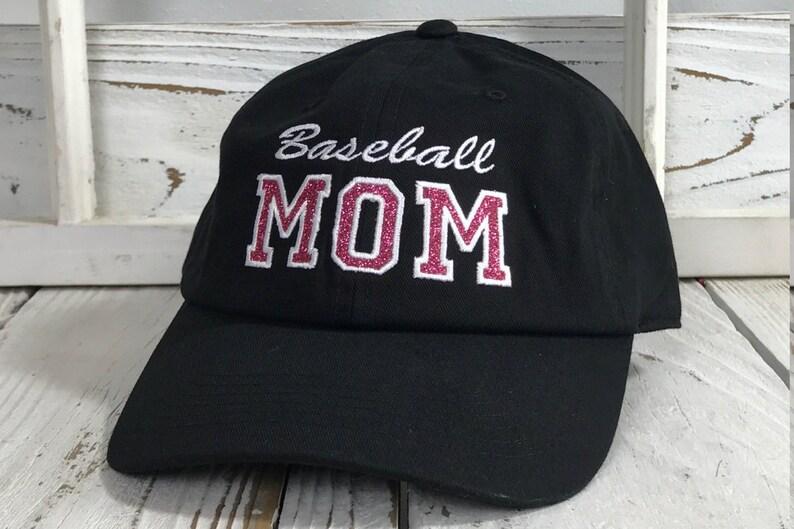 70178653b78768 BASEBALL MOM Dad Hat Baseball Hat Low Profile Embroidered | Etsy