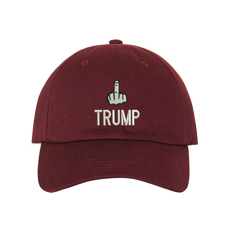 3bc82357371 Baseball Cap TRUMP MIDDLE FINGER Hat Anti Trump Not My