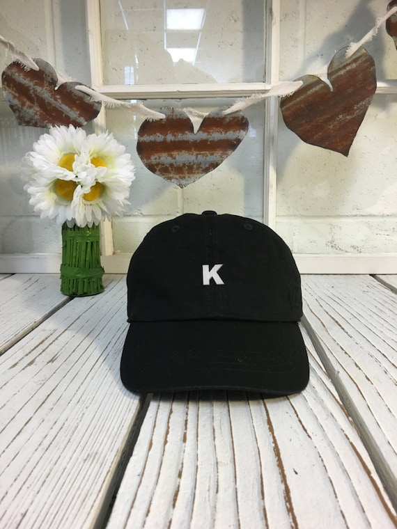 Dad Hat Letter K Alphabet Initial Embroidered  5f1e036b928e