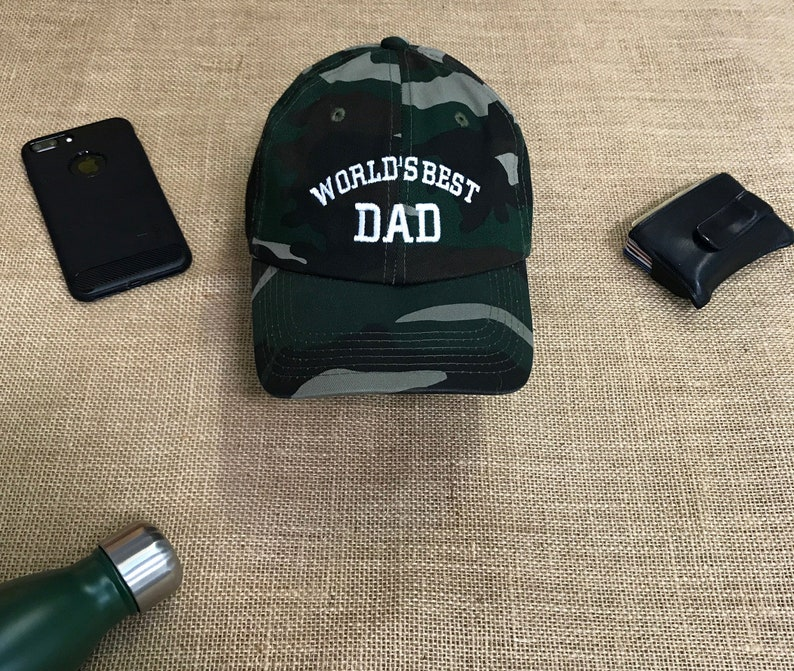 d9b51fefd6f BEST DAD Baseball hat World s BEST Dad Hat Gift for Dad