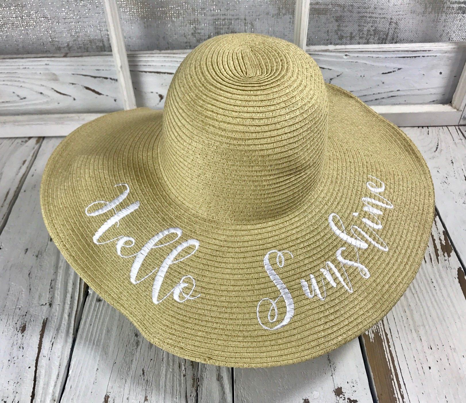 7af2beef434 HELLO SUNSHINE Beach Sun Hat