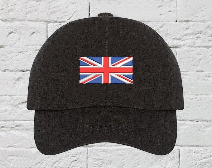British Flag UK Flag Baseball Hat Low Profile Hat Embroidered Baseball Caps European Dad Hats Union Jack Hat Unisex